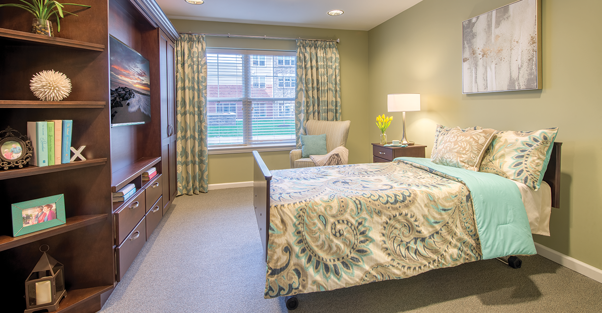 Assisted living apartment home at Erickson Living.